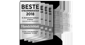 Handelsblatt: Beste Steuerberater 2018