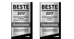 Handelsblatt: Beste Steuerberater 2017