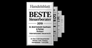 Handelsblatt: Beste Steuerberater 2019