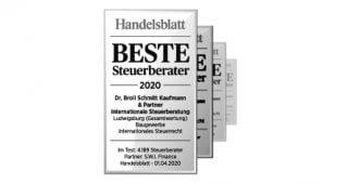 Handelsblatt: Beste Steuerberater 2020