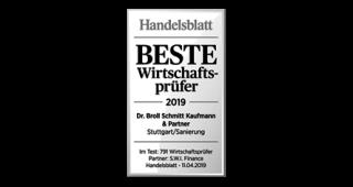 Handelsblatt: Beste Wirtschaftsprüfer 2019