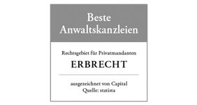 Capital: Beste Anwaltskanzlei für Erbrecht