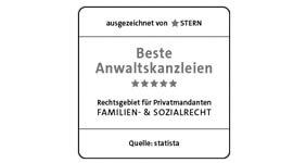 stern: Beste Anwaltskanzlei für Familienrecht & Sozialrecht